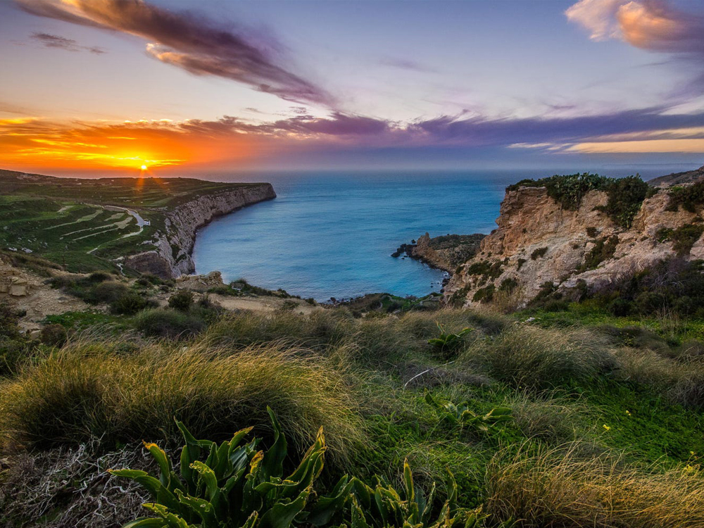 Sunset at Fomm ir-Riħ