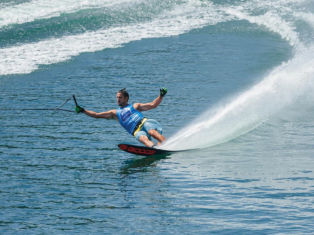 Water skiing at Ġnejna Watersports
