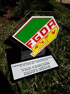 Troféu conquistado pela Equipe Master de Natação do GNGaúcho