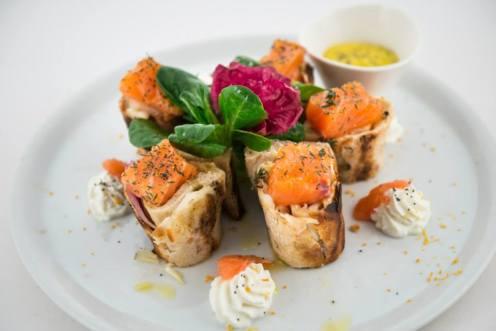 italy pizza deconstructed salmon foodart
