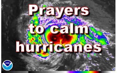 Prayers to calm hurricanes
