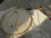 My train project: trying my hand at embroidery. #newcraftyskill
