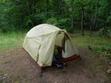 the tent Sara and I shared. #tightquarters