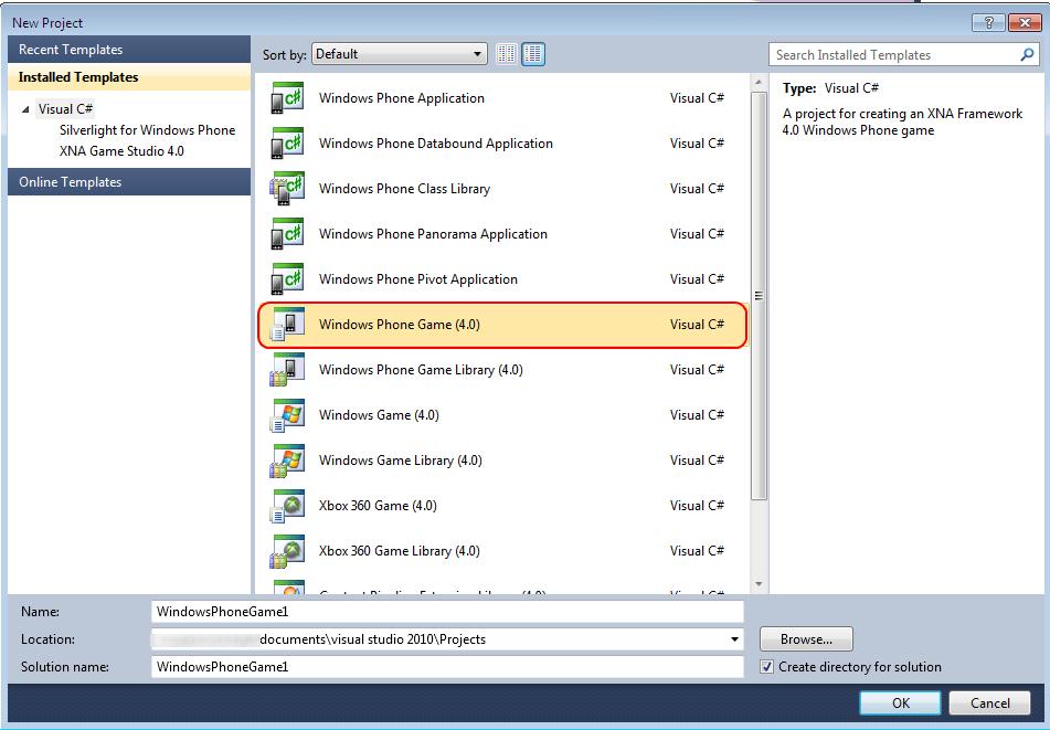 Windows Phone 7 Game Development Tutorial Lesson1 (6/6)