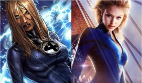 Invisible Woman in comic and film, played by Jessica Alba (Marvel Comics)