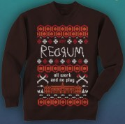 "If you must give a tacky Christmas sweater, at least make it cool like this ""Shining"" sweater (Fearnet)"