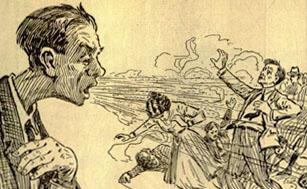 1919 flu sketch - The Health Bulletin