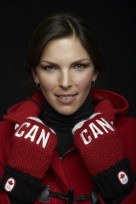 Canadian snowboarder Caroline Calve is competing in the women's parallel giant slalom.