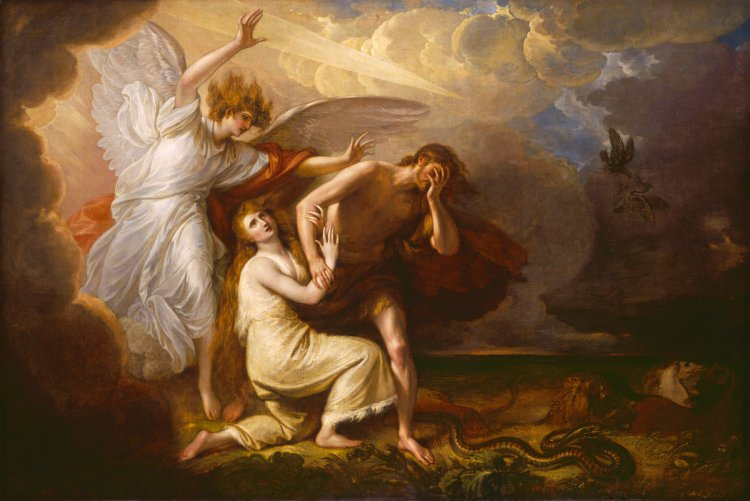 Benjamin West, The Expulsion of Adam and Eve from Paradise, American, 1738 - 1820, 1791, oil on canvas, Avalon Fund and Patrons' Permanent Fund