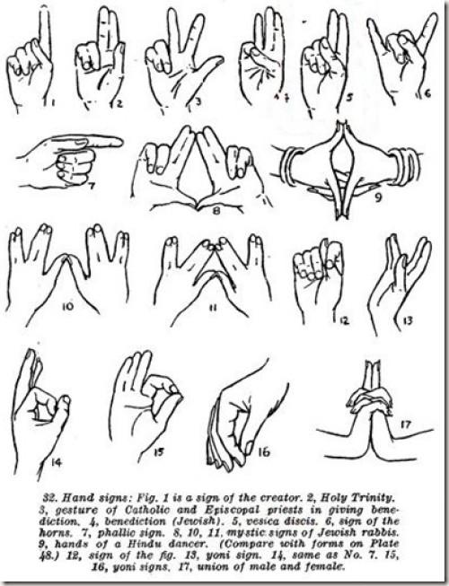 illuminati hand symbols