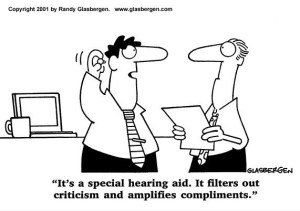Special Hearing Aid for Compliments