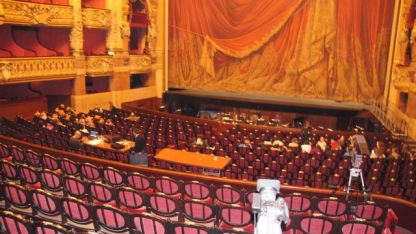 A 'box' view of the stage at the Opera