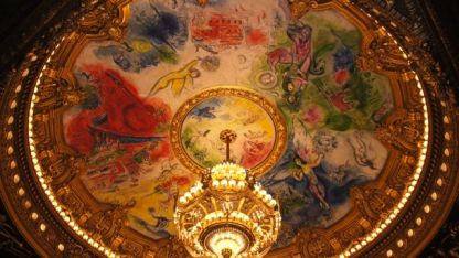 Ceiling inside the concert hall