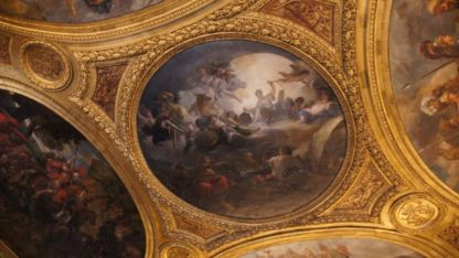 Painting on ceiling in Versaille