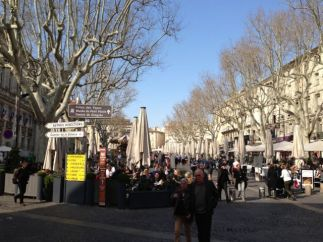 The square in Uzes