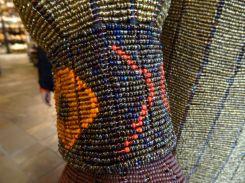 Intricate beaded work on Mandela