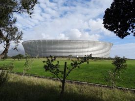 The World Cup Soccer Stadium - the locals still live in the World Cup World