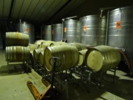 Each silver container holds around 5,000 litres