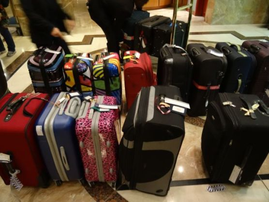 Suitcases out a 4:45am