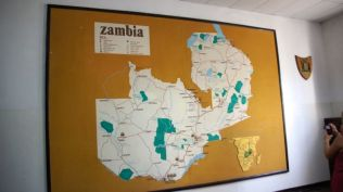 Zambia map at the Livingstone Museum