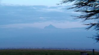 The only sight we have of Mt Kilimanjaro