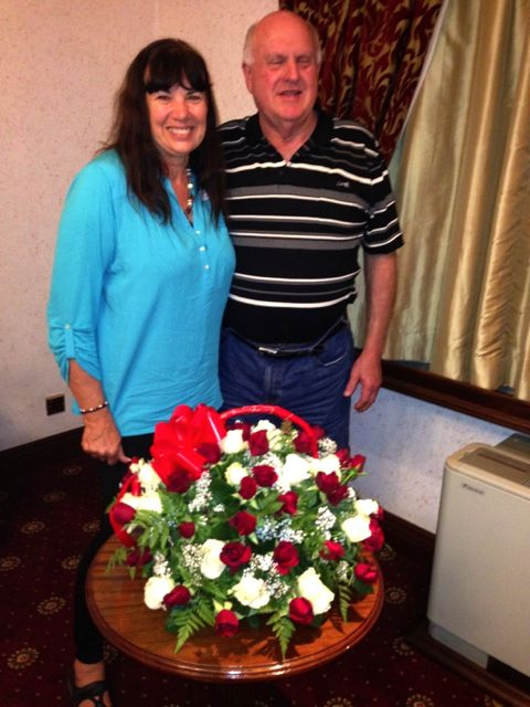 Darlene and Leo - roses even in Nairobi