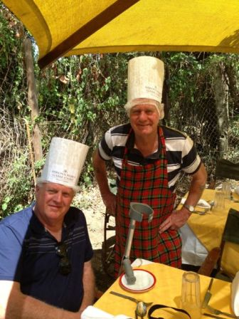 Even 'the men' with walking sticks can join the kitchen staff.