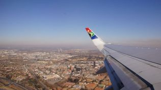 Flying out of Johannesburg