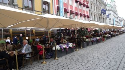 Side-walk Cafes abound