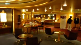 There are many bars around the ship.