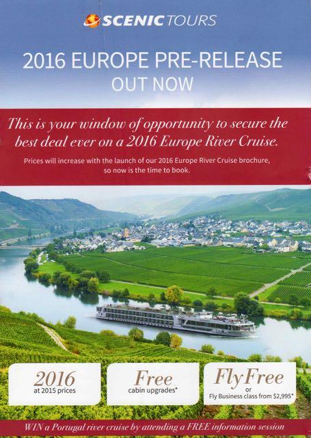 2016 Europe Pre Release Scenic River Cruises