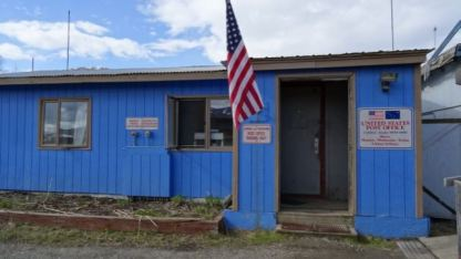 Lonely north frontier post office