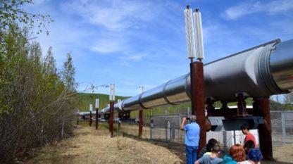 Notice the pipeline cradles
