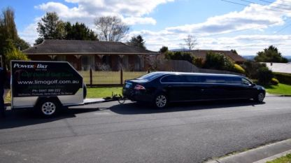 Limo and trailer - what a way to transfer.