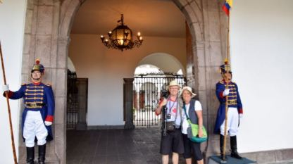 Outside the Presidential Palace