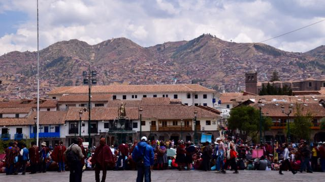 City of Cuzco spread across the high Andes Mountains.