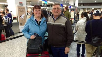 Rod and Lyn Dwyer leaving Tullamarine on a Scenic trip on the Mekong River