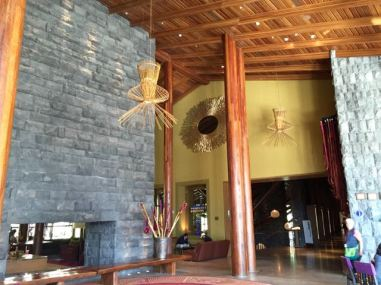 The entrance foyer to our resort.
