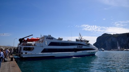 The fast ferry to Capri