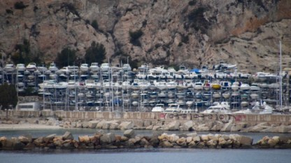Stacks of boats