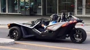 A three wheeled sports car.
