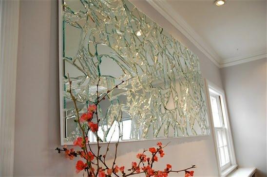 إعادة استخدام المرايا المكسوره فى عمل فنى DIY Mirrors