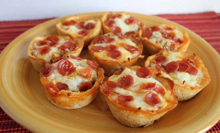 كب كيك البيتزا