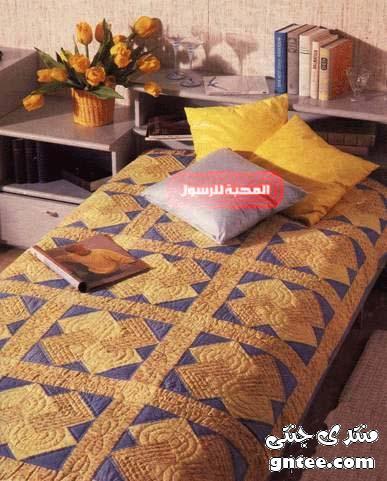 شرح تنفيذ مفرش سرير بطريقة الخيامية