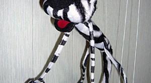 خياطة لعبة على شكل نمر