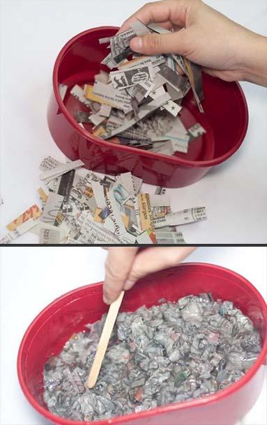 خطوات تنفيذ طاولة من عجينة الورق
