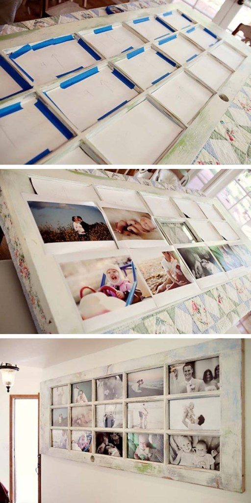 إعادة تدوير باب قديم إلى برواز للصور