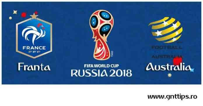 Ponturi fotbal - Franta - Australia - Campionatul Mondial - Grupa C - 16.06.2018