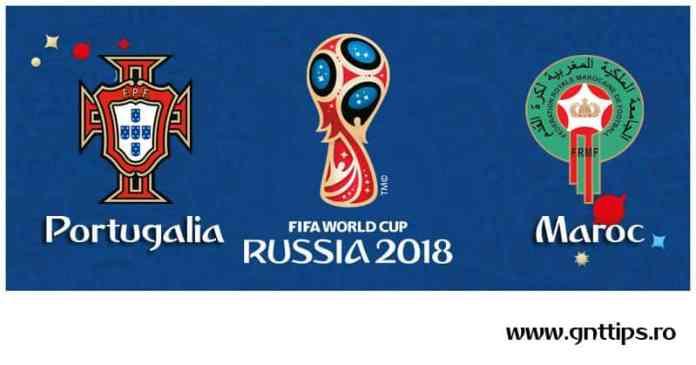 Ponturi fotbal - Portugalia - Maroc - Campionatul Mondial - Grupa B - 20.06.2018