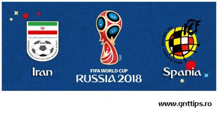 Ponturi fotbal - Iran - Spania - Campionatul Mondial - Grupa B - 20.06.2018